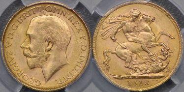 1918 Bombay Sovereign