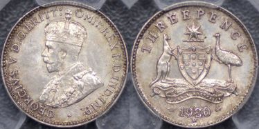 1920 Melbourne Threepence
