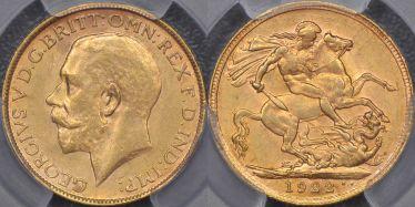 1922 Melbourne Sovereign