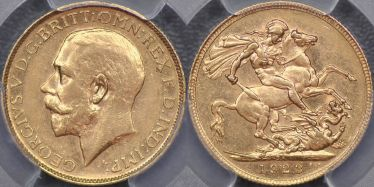 1923 Pretoria currency-issue Sovereign