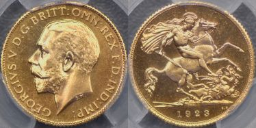1923 Pretoria Proof Half Sovereign