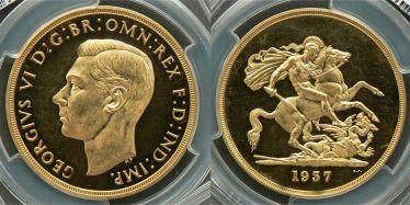 1937 Proof Five Pound