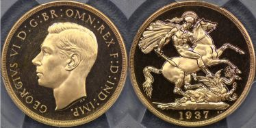 1937 Proof Two Pound