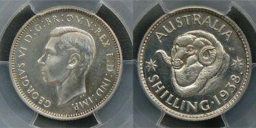 1938 Proof Shilling