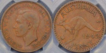 1942 Bombay Penny without I mintmark