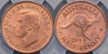 1943 Melbourne Halfpenny
