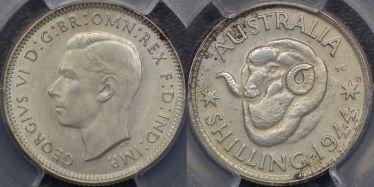 1944 Melbourne Shilling