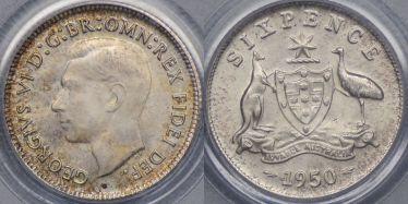 1950 Sixpence