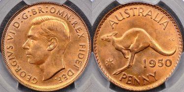 1950 Melbourne Penny