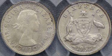 1953 Sixpence