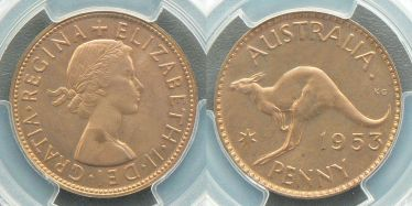 1953 Perth Proof Penny