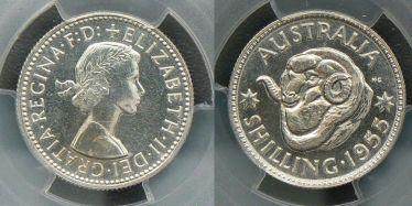 1955 Proof Shilling