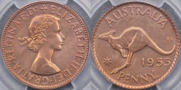 1955 Perth Proof Penny