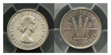 1956 Proof Threepence