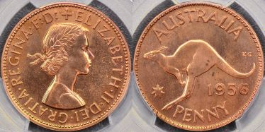 1956 Melbourne Proof Penny