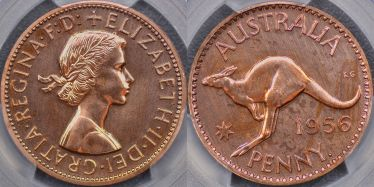 1956 Perth Proof Penny