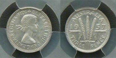 1957 Proof Threepence