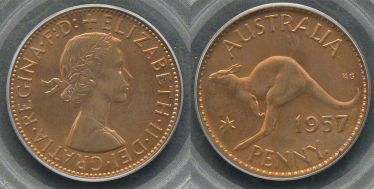 1957 Perth Proof Penny
