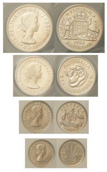 1958 Melbourne Proof Silver Set