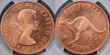 1958 Melbourne Proof Penny