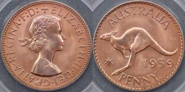 1959 Perth Proof Penny