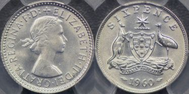 1960 Sixpence
