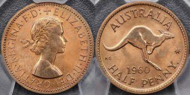 1960 Perth Proof Halfpenny