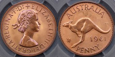 1961 Perth Proof Penny