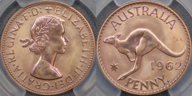 1962 Perth Proof Penny