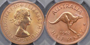 1962 Perth Proof Halfpenny