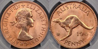 1963 Perth Proof Penny