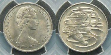 1966 Wavy 2 Twenty Cent