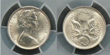 1966 Canberra Five Cent