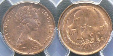 1966 Perth One Cent