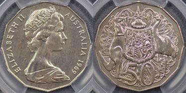 1969 Yarralumla PNC Specimen Fifty Cent