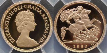 1980 Proof Half Sovereign