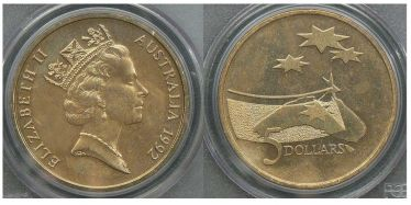 1992 Five Dollar Year of Space