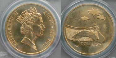 1992 Five Dollar Space