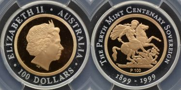 1999 Perth Mint One Hundred Dollars