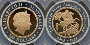 1999 Perth Mint Proof One Hundred Dollars