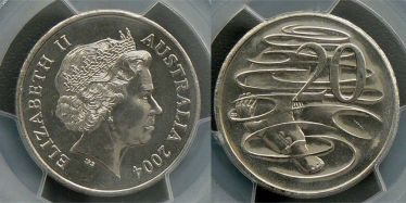 2004 Twenty Cent Small Head