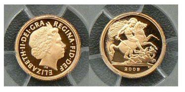 2009 Proof Quarter Sovereign