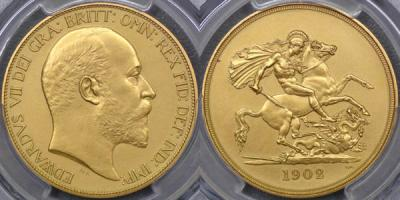 1902 Five Pound values