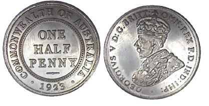 1923 half penny fake