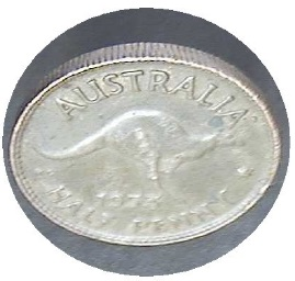 Silvered halfpenny