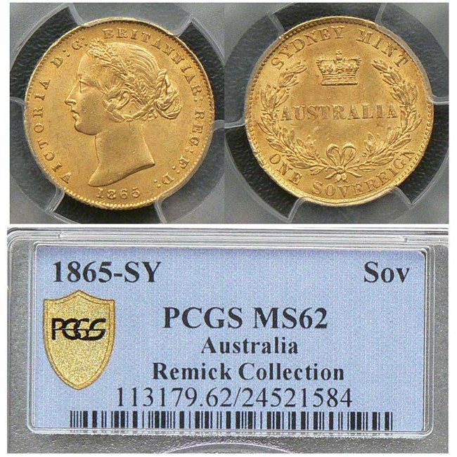 1865 Sydney Mint sovereign