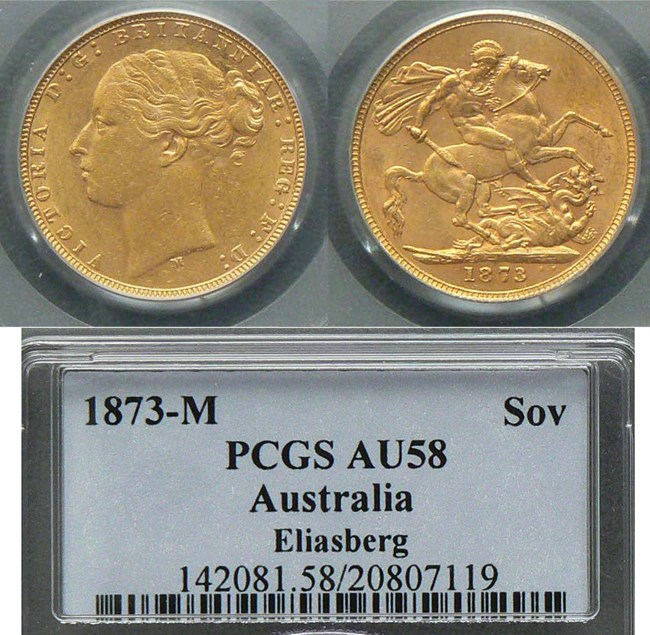 1873 Melbourne Sovereign
