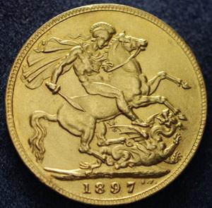 1897S Counterfeit Sovereign
