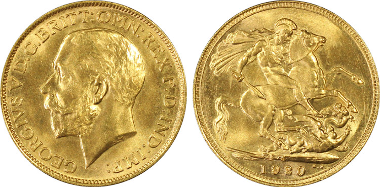 1920S Gold Sovereign