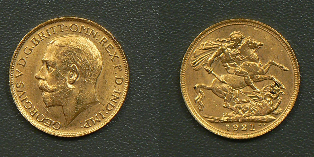 Fake gold sovereign